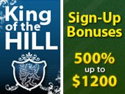King of the Hill and poker bonus at BestPoker